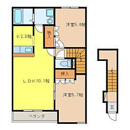 ピアレスT[2階]の間取り