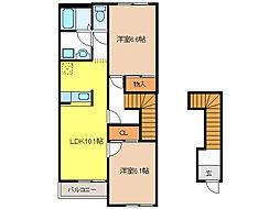 メゾンセレスト B[2階]の間取り