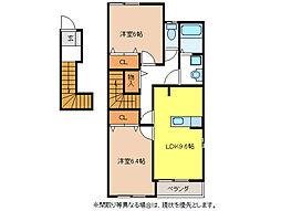メゾンド・ソレイユA棟[2階]の間取り