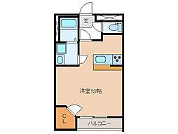 レオパレスKAZUMI[2階]の間取り