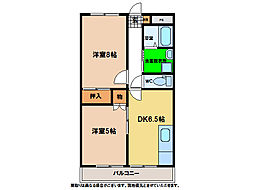 メゾンラメール A棟・B棟[2階]の間取り