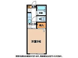 レインボーハイツR[1階]の間取り
