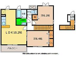 ハッピネスハウスA・B[2階]の間取り