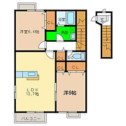 カサ モデルナ I・II[2階]の間取り