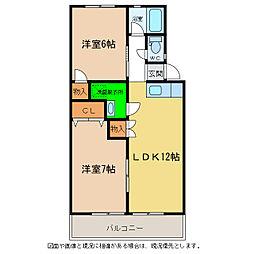 浜田コーポ西須賀[3階]の間取り