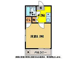シャトル二軒屋[1階]の間取り