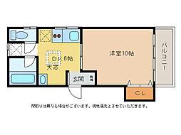 ハッピーハイツ3[2階]の間取り