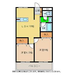 宮城マンション(神田瀬)[3階]の間取り