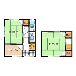 中村アパート[1階]の間取り