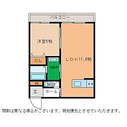 ピース・スクエア小松島[203号室]の間取り
