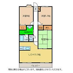湊マンション[2階]の間取り