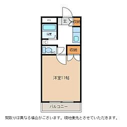 コーポ大原5[1階]の間取り