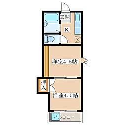 ツルマルハイツ    [2階]の間取り