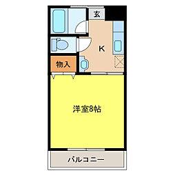 コーポレーションマルモト[2階]の間取り