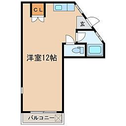 白水マンション[3階]の間取り