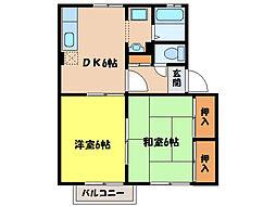 ガーデンコート田崎[2階]の間取り