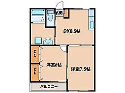 福島ラ・クオーレ[2階]の間取り