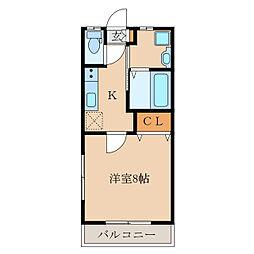 monkey pod[2階]の間取り