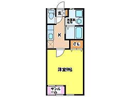 プランドール札元[1階]の間取り