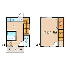 コーポマルモト[1階]の間取り