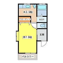 フォーレスト・カズタ[103号室]の間取り