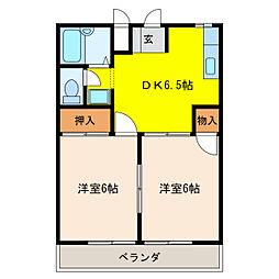 コーポAI[2階]の間取り
