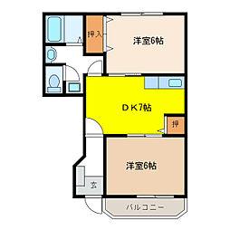 ロジュマンNODA B[1階]の間取り