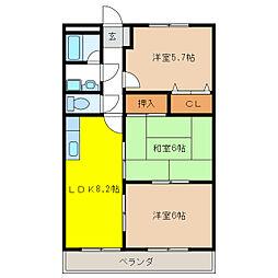 エクセルマンション[3階]の間取り