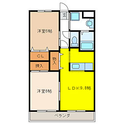 サニーウィング大野 壱番館[2階]の間取り