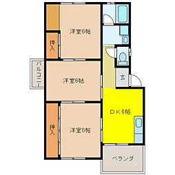 加藤ビルII[1階]の間取り
