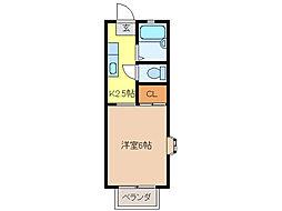 アネックスSHIMA[1階]の間取り