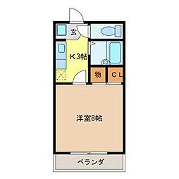 第5ハイツタマキ[203号室]の間取り