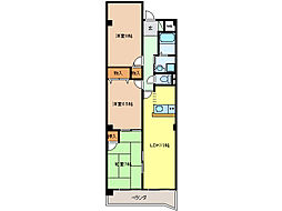 CASA NAGARA PARK[2階]の間取り