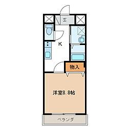 長良S様2期新築アパート[2階]の間取り