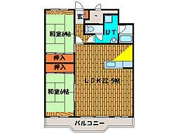 北海道函館市若松町の賃貸マンションの間取り