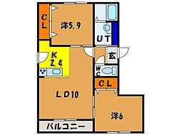 北海道函館市千代台町の賃貸マンションの間取り
