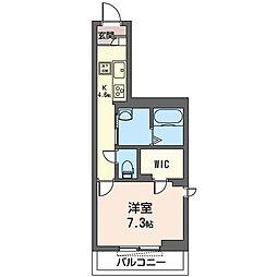 JR内房線 姉ヶ崎駅 徒歩9分の賃貸マンション 1階1Kの間取り