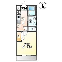 JR内房線 長浦駅 徒歩30分の賃貸アパート 2階1Kの間取り