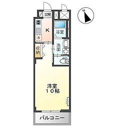 JR内房線 五井駅 バス6分 飛天坂停下車 徒歩4分の賃貸アパート 2階1Kの間取り