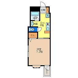 アーバンコート二軒屋[4階]の間取り