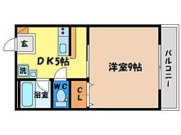 アーバンコート二軒屋[5階]の間取り