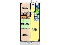 第19柴田マンション[6階]の間取り