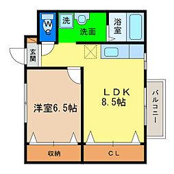 メゾンSHIMIZU[2階]の間取り