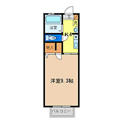 シャーメゾン エトワール[1階]の間取り