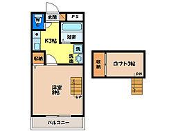 ラピタ沖浜[2階]の間取り