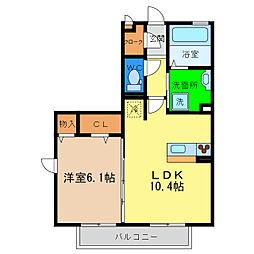 フィオーレ沖浜II[1階]の間取り