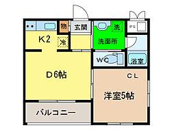 アップフィールド富田橋[4階]の間取り