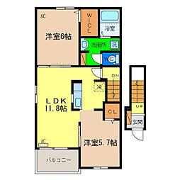 リンクB[2階]の間取り
