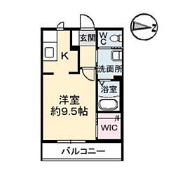 シャーメゾン佐古[1階]の間取り