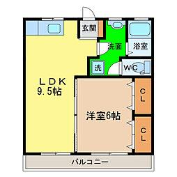 ロイヤルハイツ[6階]の間取り
